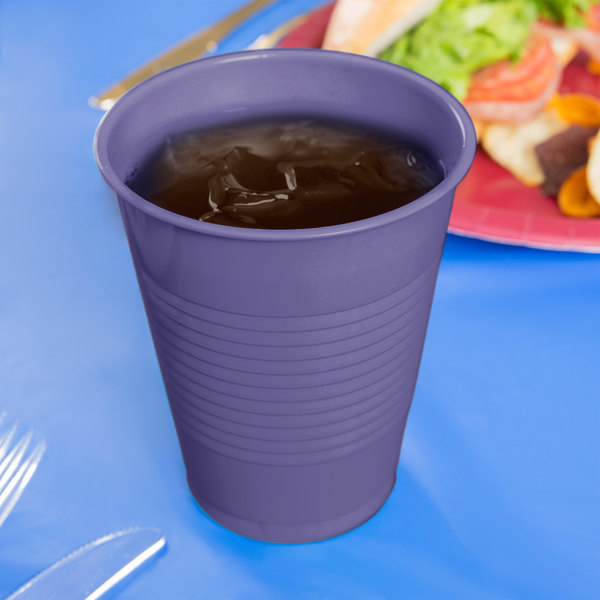 Creative Converting 28115081 16 oz. Purple Plastic Cup - 240/Case Main Image 3