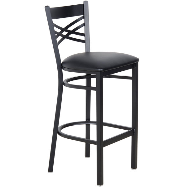 Lancaster Table Seating Cross Back Bar Height Chair With 2 12