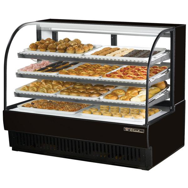 True TCGD-59 59 inch Black Dry Bakery Display Case