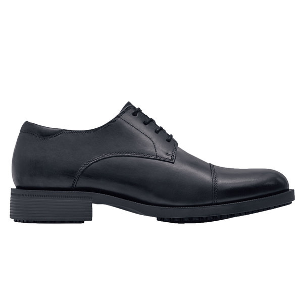 Shoes For Crews 1201 Senator Men's Black Water-Resistant Soft Toe Non-Slip Dress Shoe
