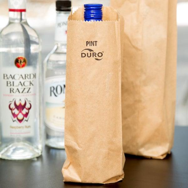 Duro Pint Size Brown Paper Bag - 500/Bundle