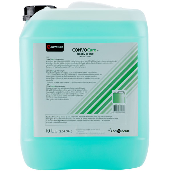 Convotherm CCARE PRE-MIX ConvoCare 10 Liter Pre-Mixed Rinsing Solution - 2/Case Main Image 1