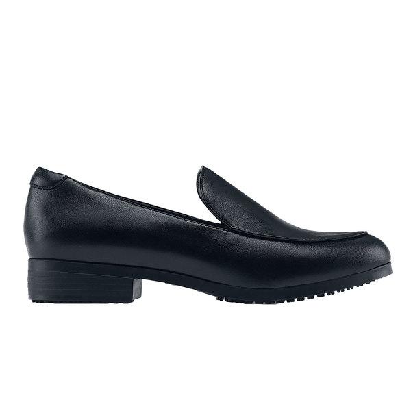 Shoes For Crews 56150 Riley Women's Black Water-Resistant Soft Toe Non-Slip Dress Shoe