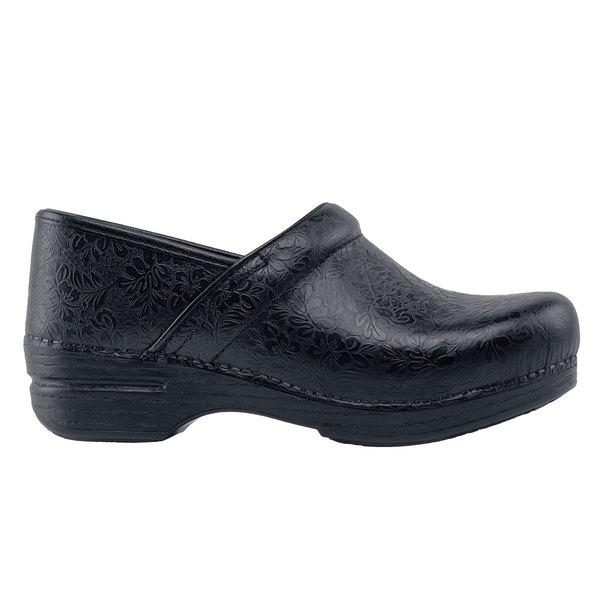 Dansko 62370 Pro XP Women's Black Floral Water-Resistant Soft Toe Non-Slip Casual Shoe