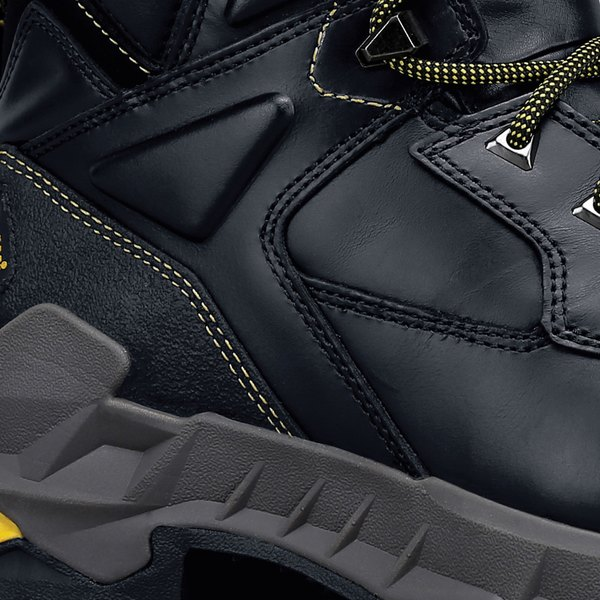 1390ca40c35 ACE 76747 Burren Unisex Black Water-Resistant Composite Toe Non-Slip ...