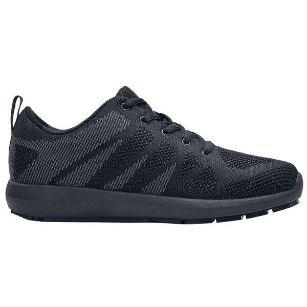 Shoes For Crews 9048 Heather Women's Black Water-Resistant Soft Toe Non-Slip Athletic Shoe