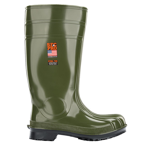 Shoes For Crews 2066 Guardian IV Unisex Green Waterproof Steel Toe Non-Slip Work Boot