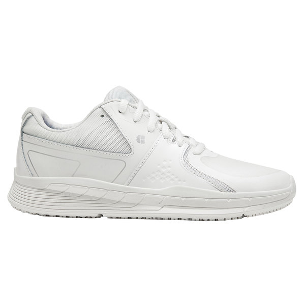 Shoes For Crews 21515 Falcon II Women's White Water-Resistant Soft Toe Non-Slip Athletic Shoe