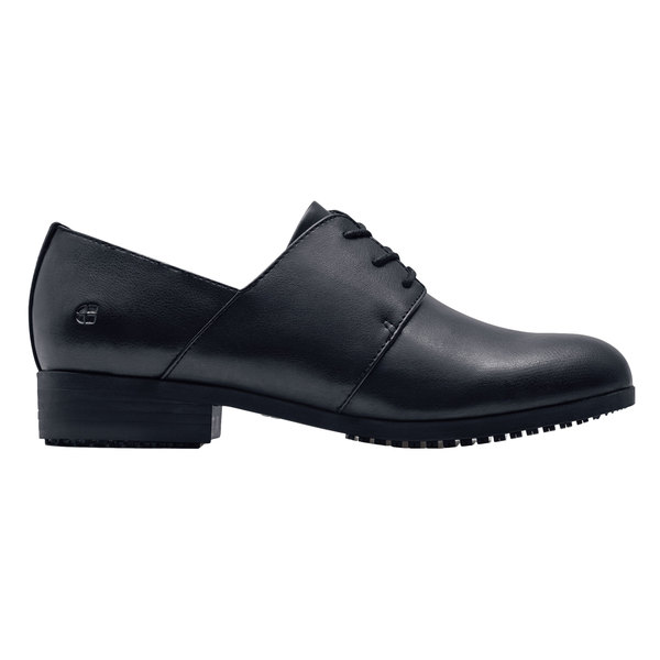 Shoes For Crews 59836 Madison III Women's Black Water-Resistant Soft Toe Non-Slip Dress Shoe Main Image 1