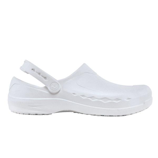 Shoes for Crews 68594 Zinc Unisex White Water-Resistant Soft Toe Non-Slip Casual Shoe