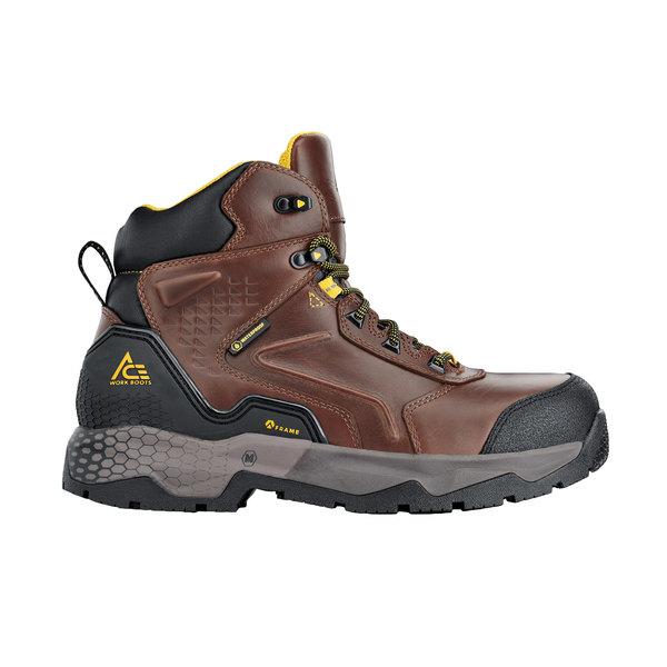 ACE 72767 Pitch Men's Brown Waterproof Aluminum Toe Non-Slip Work Boot