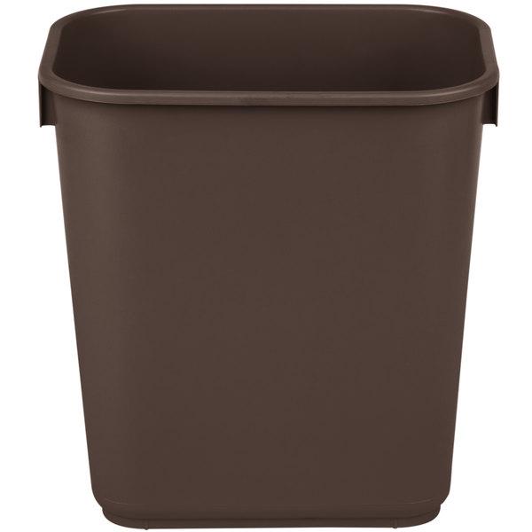 Continental 1358BN 13.6 Qt. / 3 Gallon Brown Rectangular Wastebasket / Trash Can