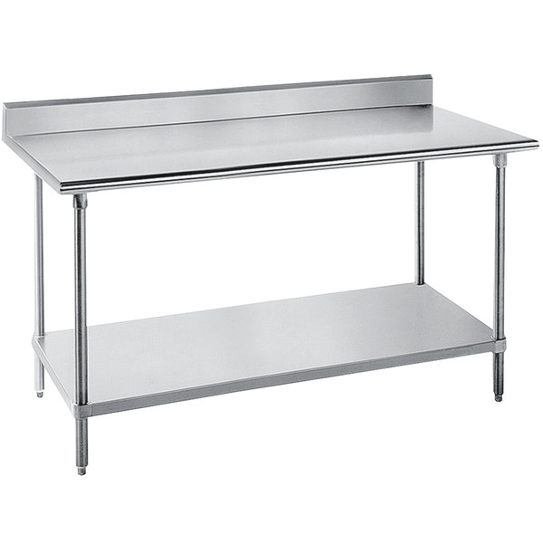 Advance Tabco SKG X Gauge Super Saver Stainless Steel - Stainless steel commercial work table 30 x 72