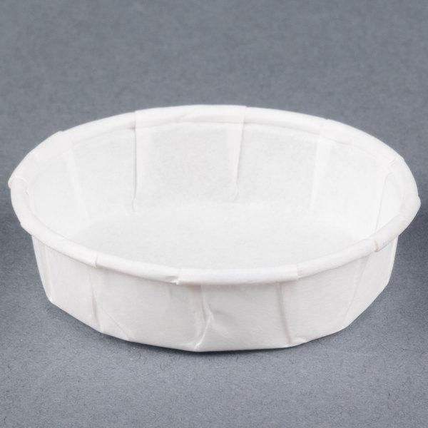Genpak F075S .75 oz. Squat Harvest Paper Souffle / Portion Cup 5000 / Case