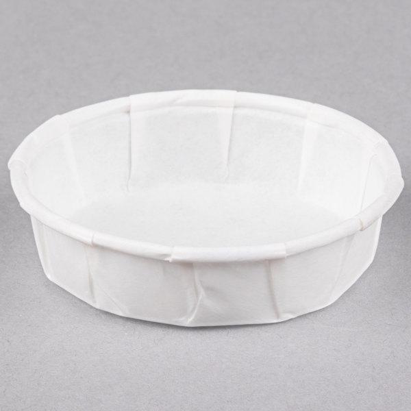 Genpak F075S .75 oz. Squat Harvest Paper Souffle / Portion Cup - 5000/Case