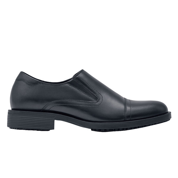 Shoes For Crews 1202 Statesman Men's Black Water-Resistant Soft Toe Non-Slip Dress Shoe