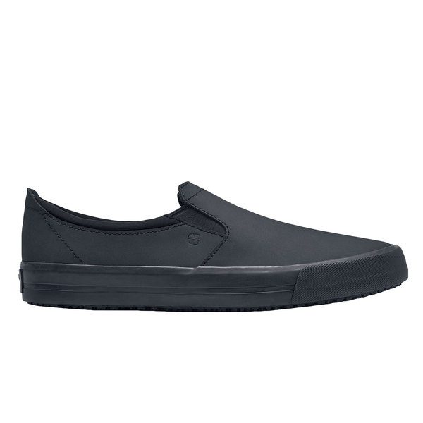 Shoes For Crews 36106 Ollie II Women's Black Water-Resistant Soft Toe Non-Slip Leather Shoe