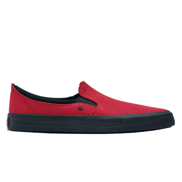 Shoes For Crews 33700 Ollie II Men's Red Water-Resistant Soft Toe Non-Slip Canvas Shoe
