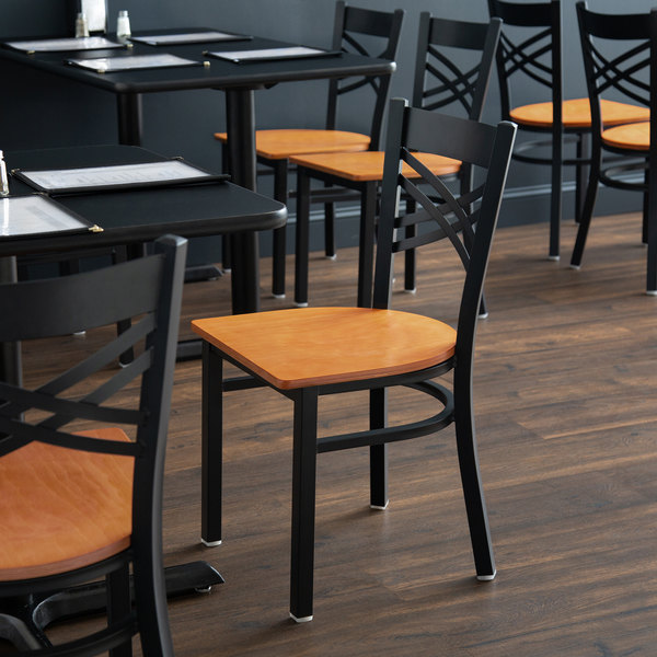 Admirable Lancaster Table Seating Black Cross Back Chair With Cherry Wood Seat Download Free Architecture Designs Scobabritishbridgeorg