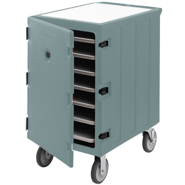 """Cambro 1826LTC3401 Camcart Slate Blue Mobile Cart for 18"""" x 26"""" Sheet Pans and Trays Main Image 1"""
