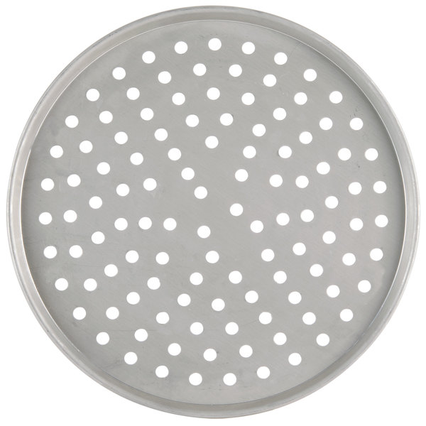 """American Metalcraft PT2007 7"""" Perforated Tin-Plated Steel Pizza Pan"""