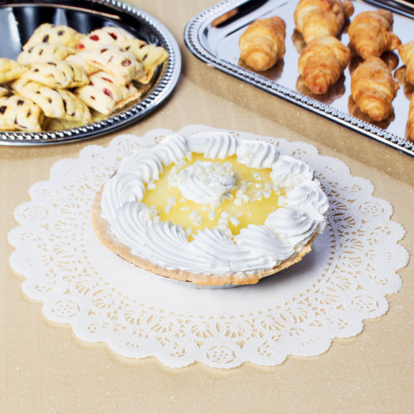 "14"" Lace Normandy Grease Proof Doilies - 250/Case"