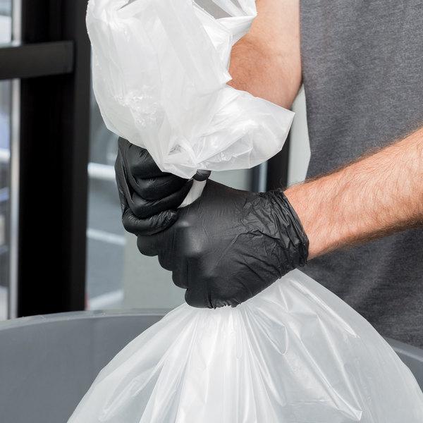 Box of 100 Lavex Industrial Nitrile 6 Mil Thick Heavy-Duty Powder-Free Textured Gloves - Medium