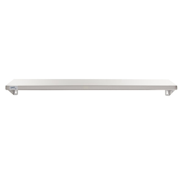 """Lavex Janitorial 5"""" x 48"""" Stainless Steel Restroom Wall Mount Shelf Main Image 1"""