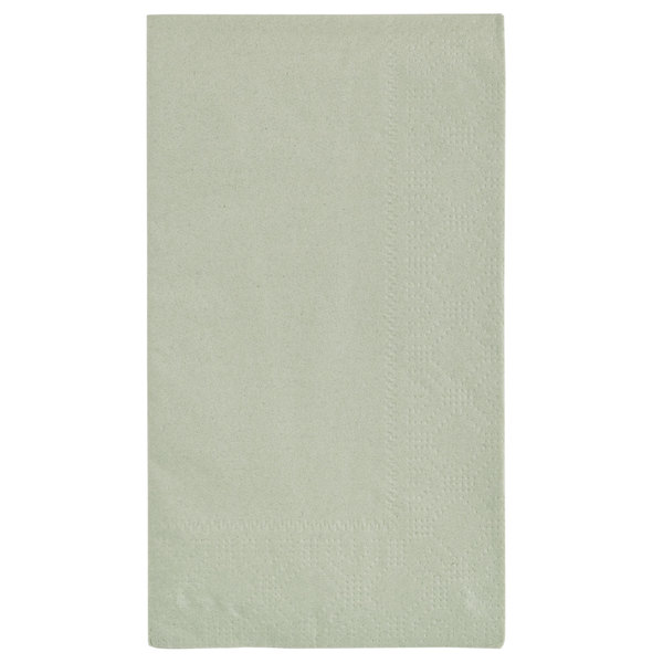 Hoffmaster 180546 Soft Sage Green 15 inch x 17 inch Green Paper Dinner Napkins 2-Ply - 1000/Case