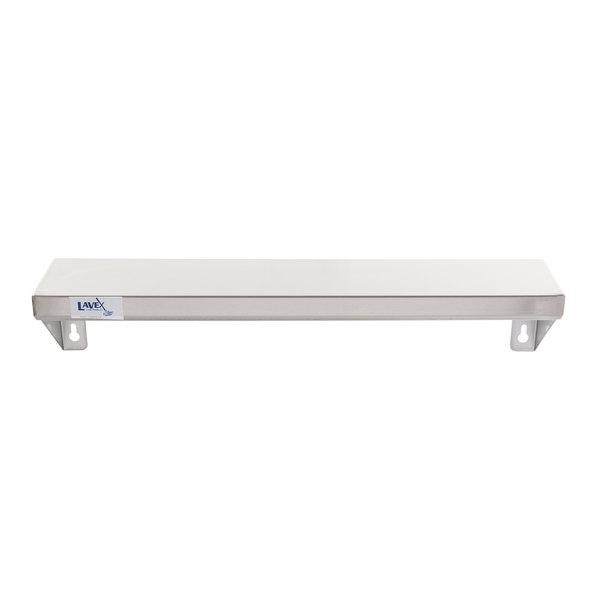"""Lavex Janitorial 5"""" x 24"""" Stainless Steel Restroom Wall Mount Shelf Main Image 1"""