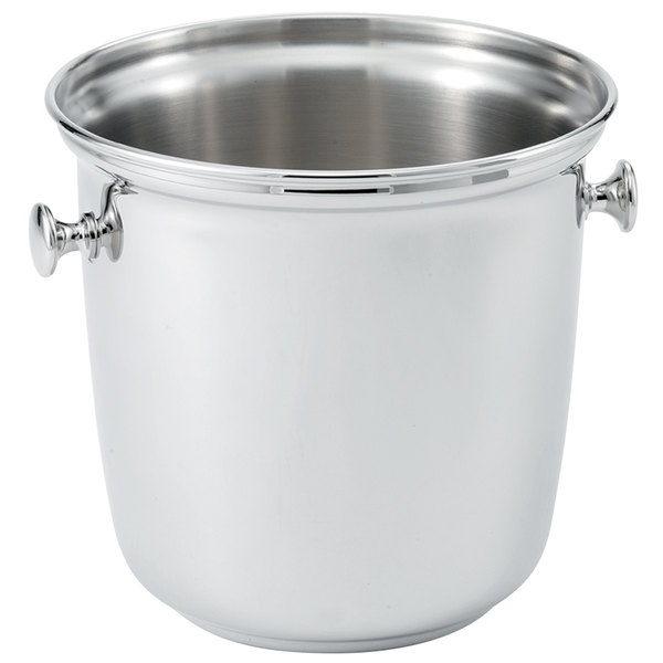 Vollrath 48325 Stainless Steel Double Bottle Wine Bucket with Handles and Silverplated Finish