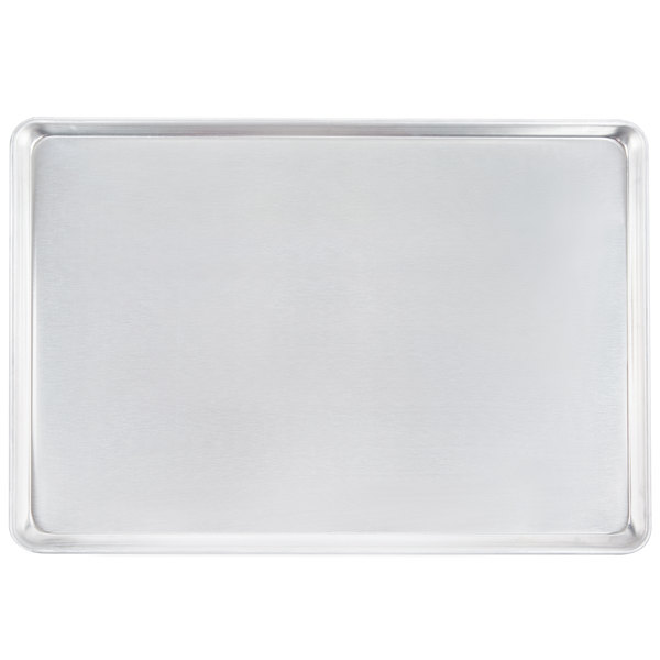 Vollrath 5315 Wear-Ever Heavy Duty Full Size 12 Gauge Aluminum Bun / Sheet Pan - Sanitary Open Bead Rim, 18 inch x 26 inch