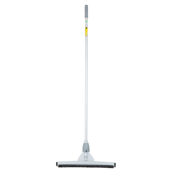 Unger PB55K SmartFit Sanitary 22 inch Scrubbing Brush / Squeegee Combo with SmartColor System and Telescoping Handle
