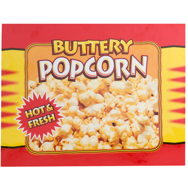 APW Wyott 21770300 Buttery Popcorn Transparency for LW-4PKG Heated Countertop Warmer Main Image 1