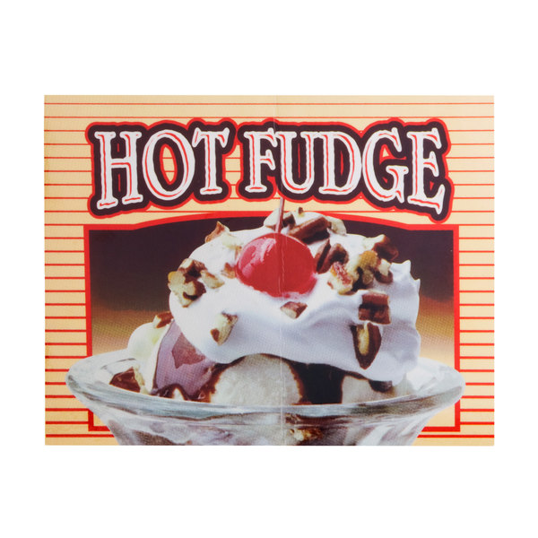 APW Wyott 21770400 Replacement Hot Fudge Transparency for LW-4PKG Heated Countertop Warmer Main Image 1