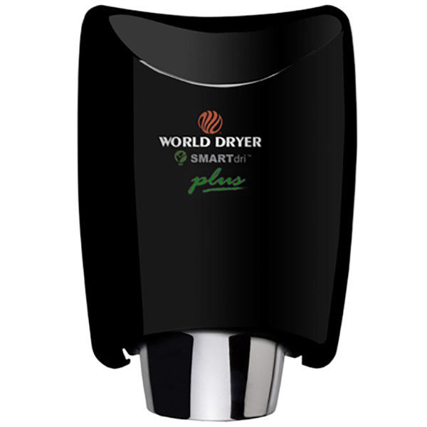 World Dryer K4-162P2 SMARTdri Plus Black Aluminum Surface-Mounted Hand Dryer - 208-240V, 1250W Main Image 1