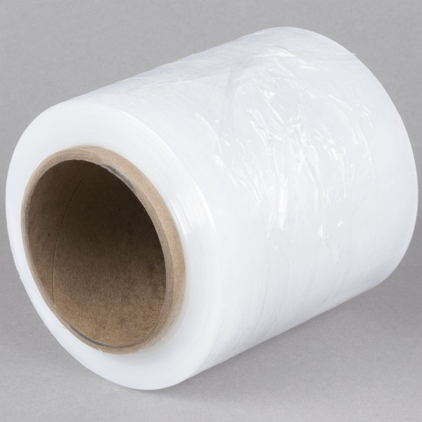 "5"" x 1000' 80 Gauge Stretch Banding Film / Pallet Wrap / Stretch Film Roll Main Image 1"
