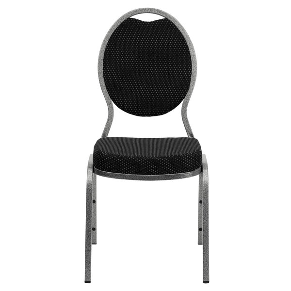Remarkable Flash Furniture Fd C04 Silvervein S076 Gg Hercules Black Pattern Fabric Teardrop Back Stackable Banquet Chair With Silver Vein Frame Creativecarmelina Interior Chair Design Creativecarmelinacom