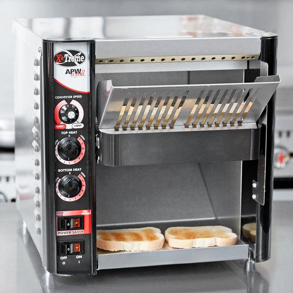 "APW Wyott XTRM-2H 10"" Wide Conveyor Toaster with 3"" Opening - 230V Main Image 11"
