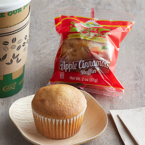 Muffin Town 2 oz. Individually Wrapped Apple Cinnamon Muffin - 72/Case Main Image 2