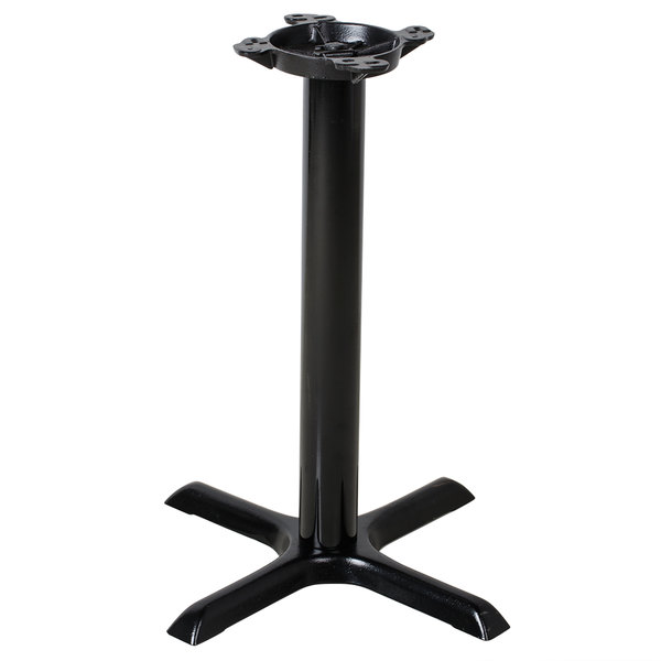 "Lancaster Table & Seating 22"" Black Metal Table Base - Standard Height"