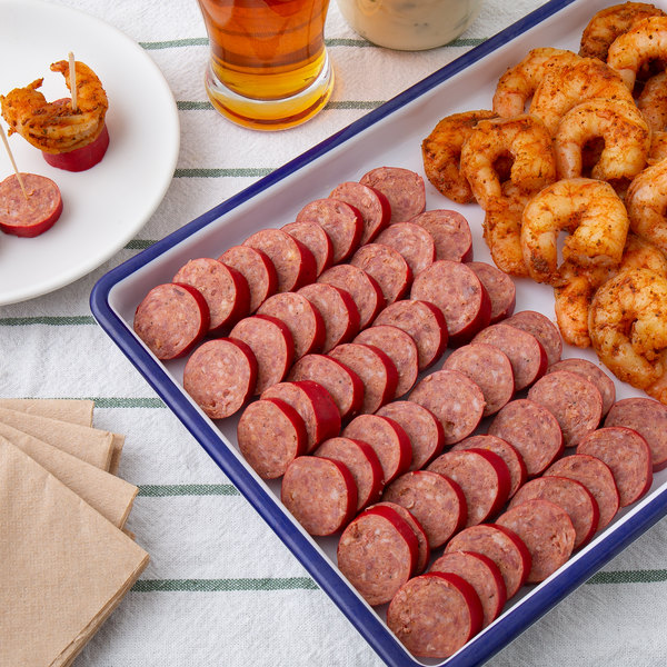 Hippey's 1 lb. 4 Pack Smoked Andouille Sausage - 12/Case