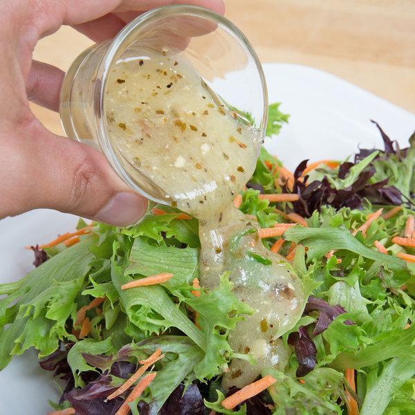 Ken's Foods 1 Gallon Greek Vinaigrette with Feta Cheese and Black Olives Dressing Main Image 4