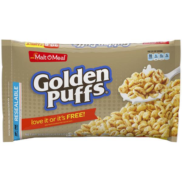 Malt-O-Meal 30.6 oz. Golden Puff Cereal - 6/Case Main Image 1