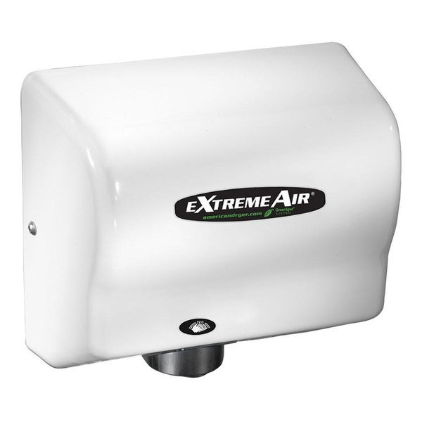 American Dryer EXT7-M ExtremeAir Automatic Unheated Hand Dryer with Steel White Cover - 100/240V, 540W