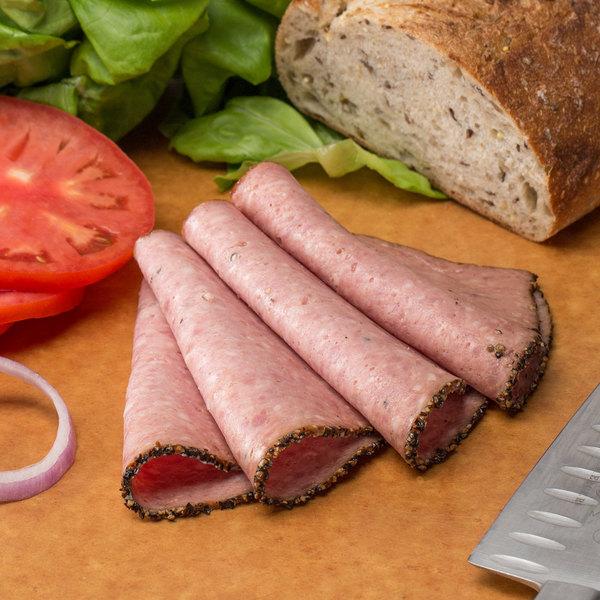 Kunzler 6 lb. Cracked Black Pepper Loaf - 2/Case