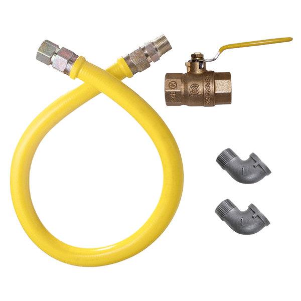 "Dormont 1675NPKIT48 48"" Stainless Steel Stationary Foodservice Gas Connector Kit - 3/4"" Diameter"