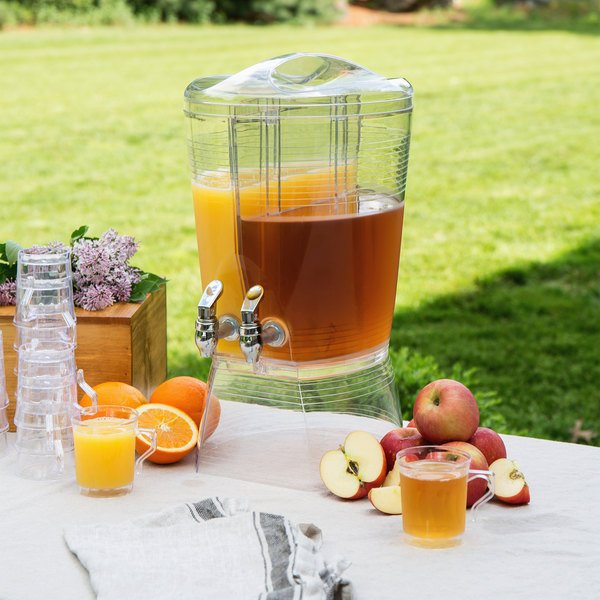 Choice 3 Gallon Acrylic Beverage Dispenser with 2 Compartments