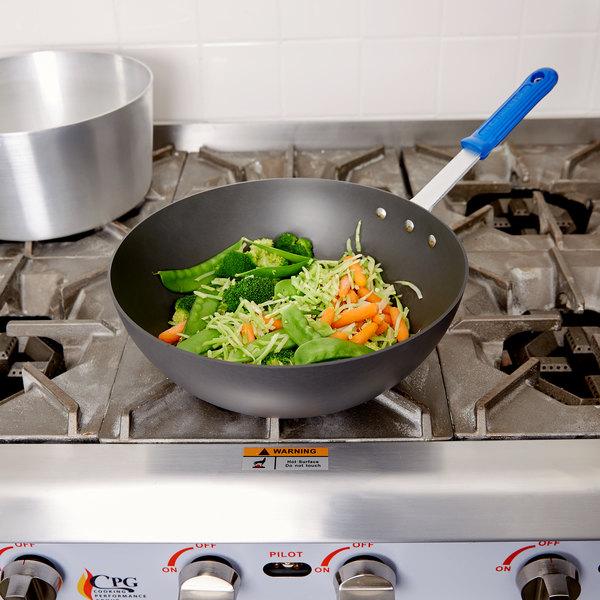 "Vollrath H4015 Wear-Ever 11 1/2"" HardCoat Aluminum Stir Fry Pan with Cool Handle Main Image 2"