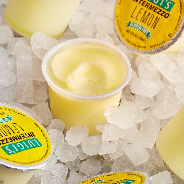 Intermezzo 4 oz. Lemon Italian Ice Cup